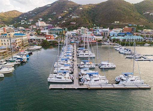 Our base in Village Cay (Roadtown, Tortola)