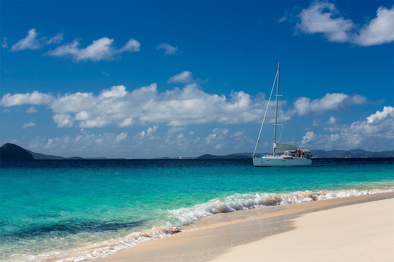 Segling i Karibien (Brittiska Jungfruöarna)