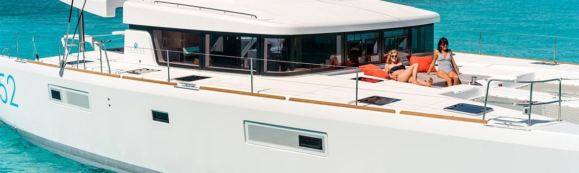 Delivery of new Lagoon 52 catamarans