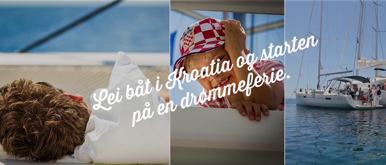 Lei av båt i Kroatia