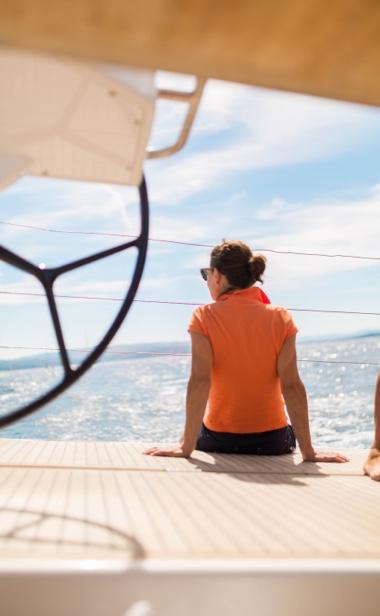 sailing a yacht