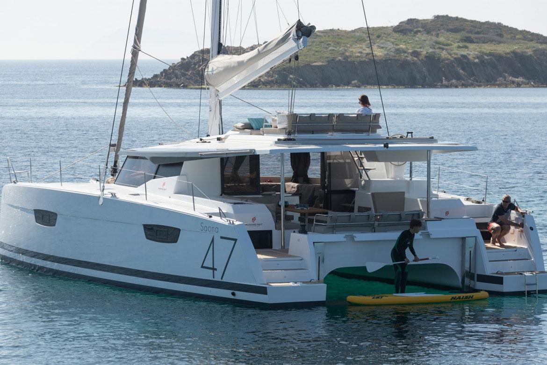 Invester i en Fountaine Pajot Saona 47 med levering i Middelhavet i 2020