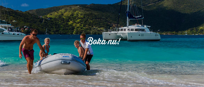 Lyxig båtcharter i Kroatien och Brittiska Jungfruöarna