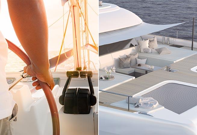 Luxusyacht-Charter mit Crew  - Sunreef 50 - Luxuskatamaran