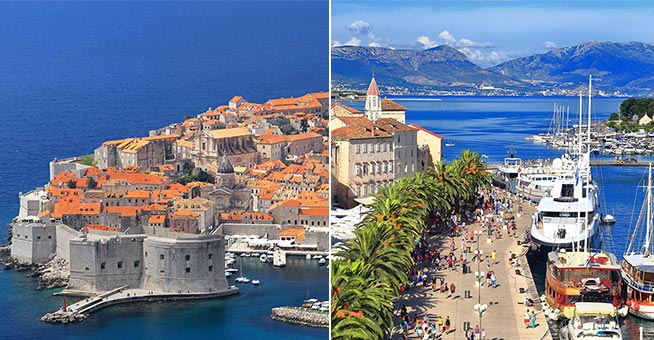 One-Way-Yachtcharter Dubrovnik - Trogir (Split)