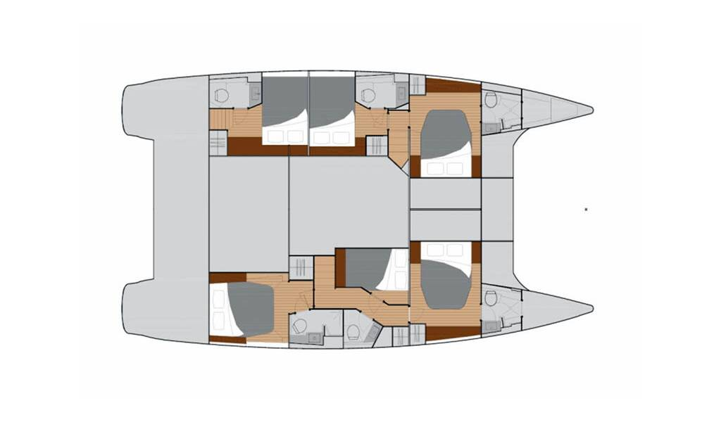 Rent a Boat Fountaine Pajot Saba 50 in Trogir - Marina Baotic