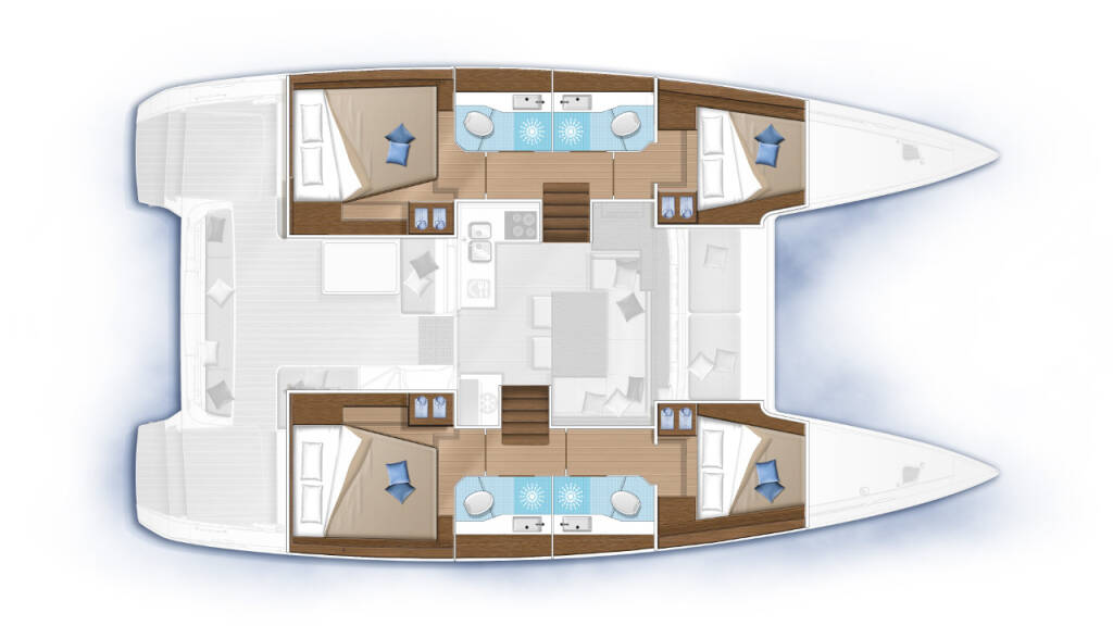 Lagoon 40, Nathalie - Cabin charter (SUNDAY) starboard stern