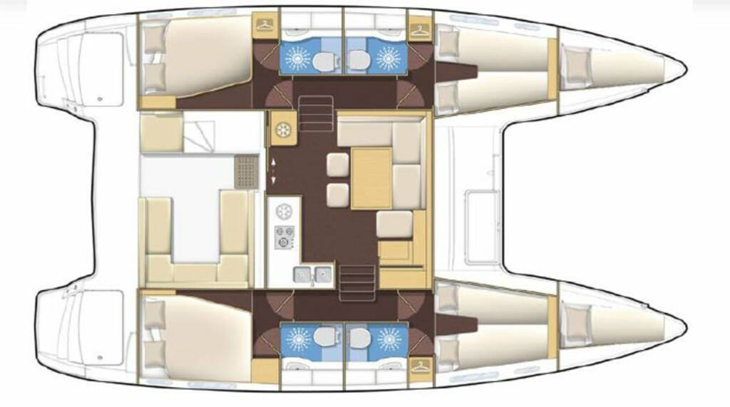 Lagoon 400 S2 Treanne (Cabin charter) port stern