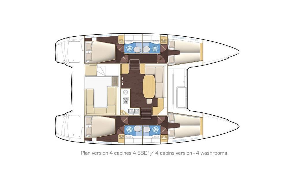 Lagoon 400 S2, Wonderland (Cabin charter) port stern