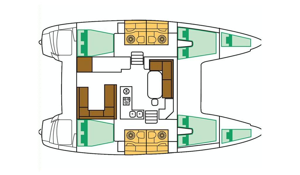 Lagoon 400 S2, Jema GRE (Cabin charter) port bow