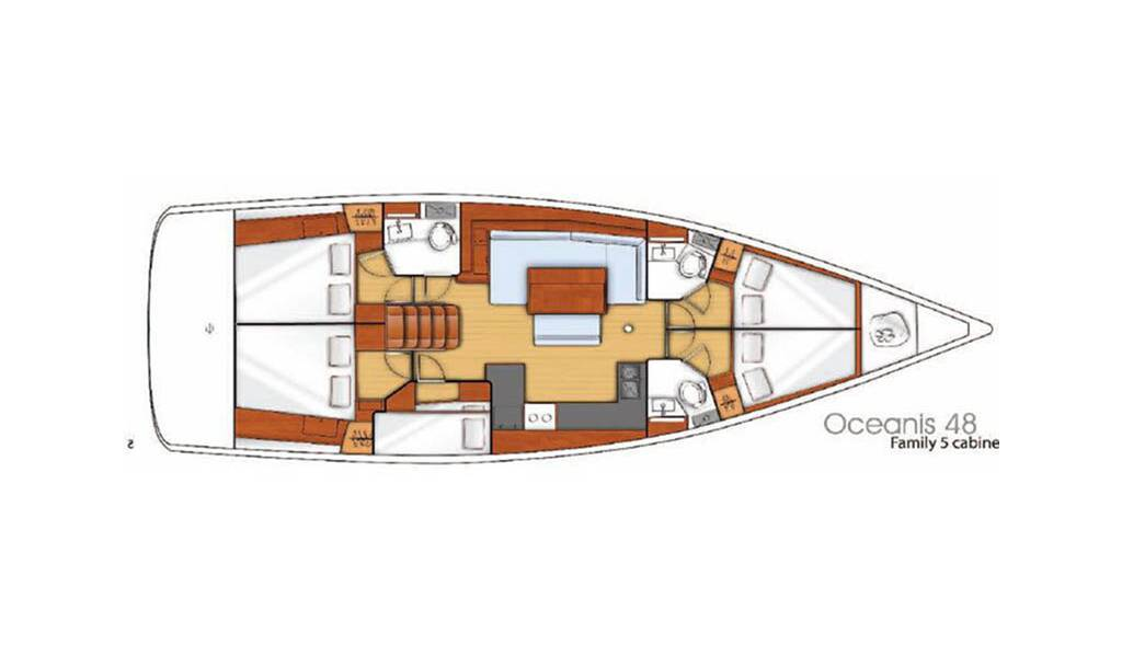 Oceanis 48, White Lady