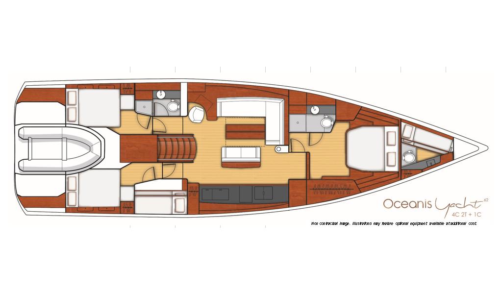 Oceanis Yacht 62, Penultimo - AC/GEN/WAT - Full Spec