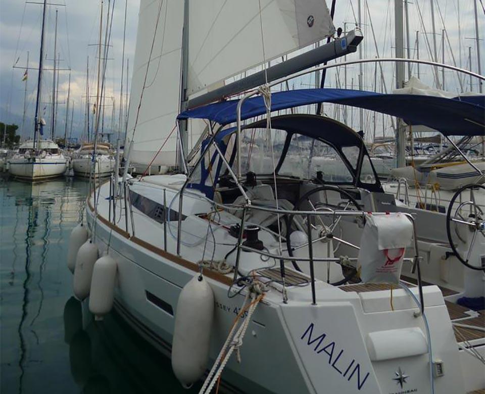 Sun Odyssey 439, Malin